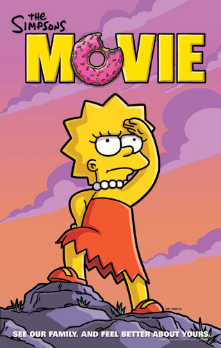 The simpsons movie teaser poster